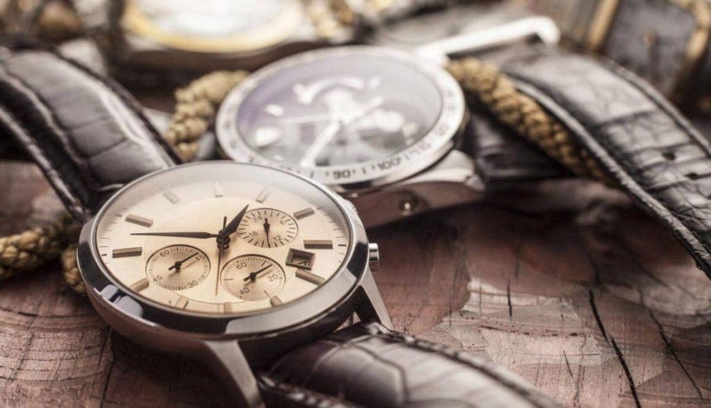 ceas cu curea din piele
